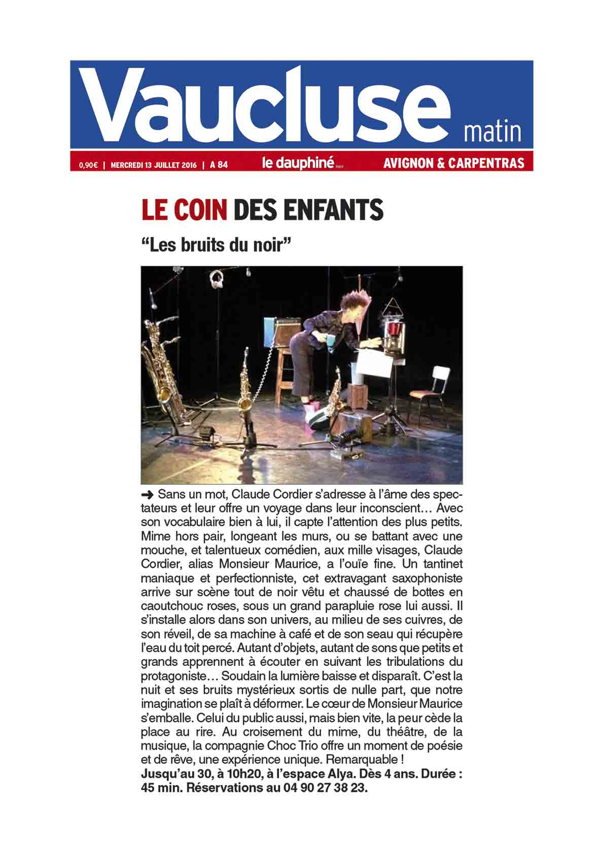 Article Avignon Off 2016